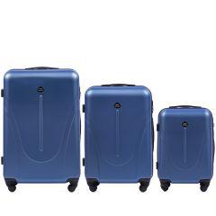 Cestovní kufry sada WINGS 888 ABS MIDDLE BLUE L,M,S