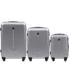 Cestovní kufry sada WINGS 888 ABS SILVER L,M,S