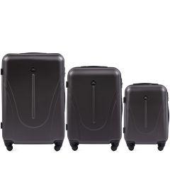 Cestovní kufry sada WINGS 888 ABS DARK GREY L,M,S