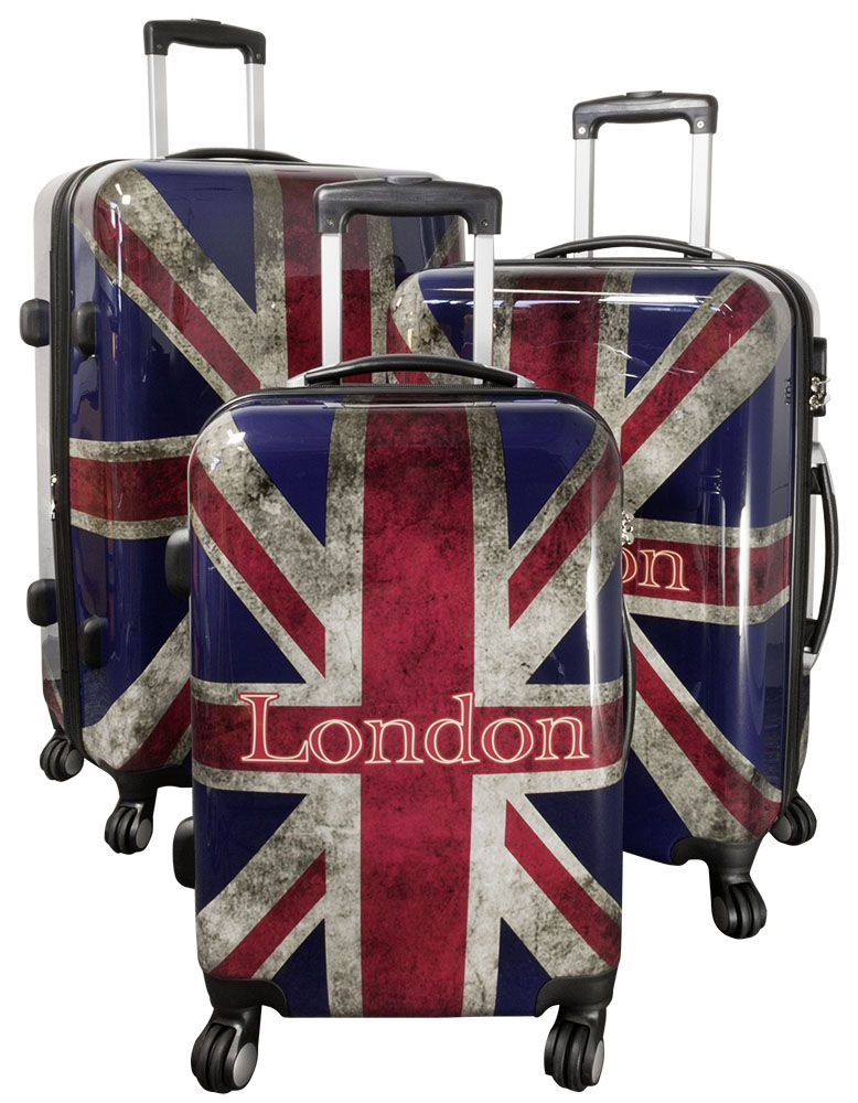 MONOPOL Cestovní kufry sada UNION JACK L,M,S