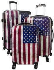 Cestovní kufry sada USA L,M,S