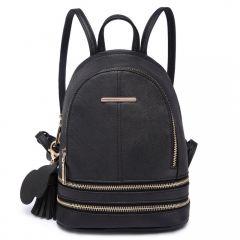 Roztomilý černý designový dámský batůžek Miss Lulu Lulu Bags (Anglie) E-batoh