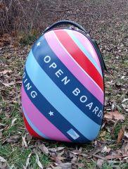 Dětský skořepinový kufr rainbow