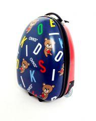 Dětský skořepinový kufr MEDVÍDEK