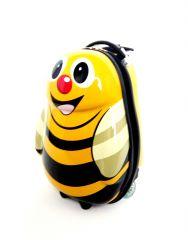 Dětský skořepinový kufr VČELKA