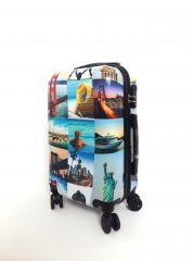 Cestovní kufr ABS CITY NEW YORK TR-A29 S E-batoh