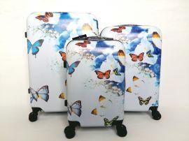 Cestovní kufry sada ABS MOTÝL A KYTKY TR-A29E