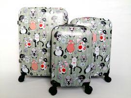 Cestovní kufry sada ABS KOČKY2 TR-A29E