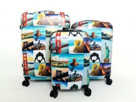 Cestovní kufry sada ABS CITY NEW YORK TR-A29E