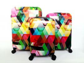 Cestovní kufry sada ABS MOZAIKA TR-A29E