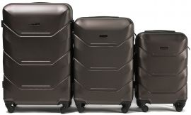 Cestovní kufry sada WINGS 147 ABS COFFEE L,M,S