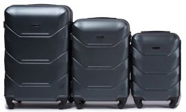 Cestovní kufry sada WINGS 147 ABS DARK GREEN L,M,S