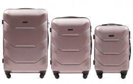 Cestovní kufry sada WINGS 147 ABS ROSE GOLD L,M,S