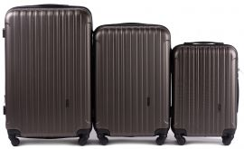 Cestovní kufry sada WINGS 2011 ABS COFFEE L,M,S