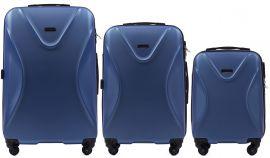 Cestovní kufry sada WINGS 518 ABS+TSA MIDLE BLUE L,M,S
