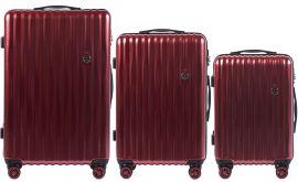 Cestovní kufry sada WINGS ABS- PC RED L,M,S