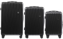 Cestovní kufry sada WINGS ABS- PC DARK GREY L,M,S