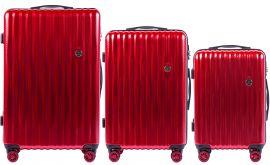 Cestovní kufry sada WINGS ABS- PC BLOOD RED L,M,S