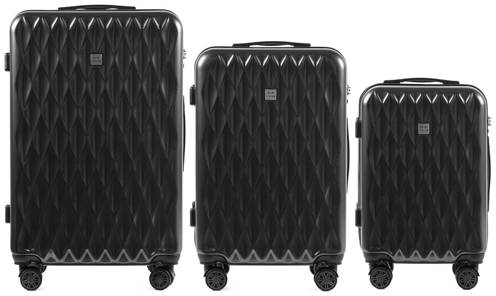 Cestovní kufry sada WINGS ABS- PC