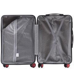 Cestovní kufry sada WINGS ABS- PC BLOOD RED L,M,S E-batoh