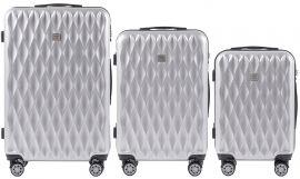 Cestovní kufry sada WINGS ABS- PC SILVER L,M,S