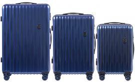 Cestovní kufry sada WINGS ABS- PC LIGHT BLUE L,M,S