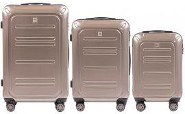 Cestovní kufry sada WINGS TSA IMPERIAL ABS- PC BRONZE  L,M,S