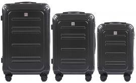 Cestovní kufry sada WINGS TSA IMPERIAL ABS- PC DARK GREY L,M,S