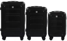 Cestovní kufry sada WINGS TSA IMPERIAL ABS- PC BLACK L,M,S
