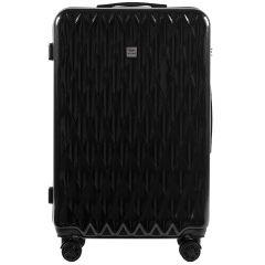 Cestovní kufry sada WINGS ABS- PC BLACK L,M,S E-batoh