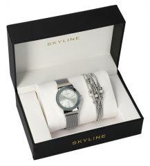 SKYLINE dámská dárková sada hodinky s náramkem MP011