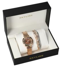 SKYLINE dámská dárková sada hodinky s náramkem MP019