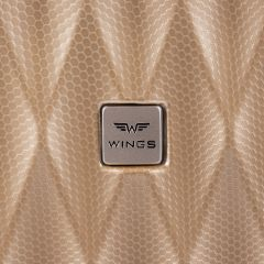 Cestovní kufr WINGS ABS POLIPROPYLEN DARK GREEN velký L E-batoh