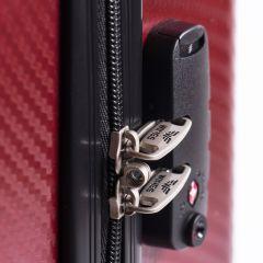 Cestovní kufr WINGS ABS POLIPROPYLEN VINE RED velký L E-batoh