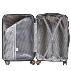 Cestovní kufr WINGS ABS POLIPROPYLEN DARK GREEN malý S E-batoh