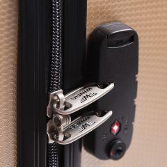 Cestovní kufr WINGS ABS POLIPROPYLEN SILVER malý S E-batoh