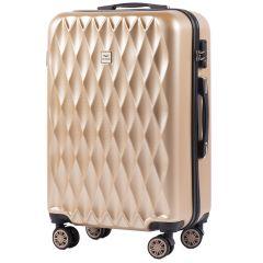 Cestovní kufr WINGS ABS POLIPROPYLEN CHAMPAGNE střední M