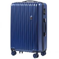 Cestovní kufr WINGS ABS POLIPROPYLEN BLUE střední M
