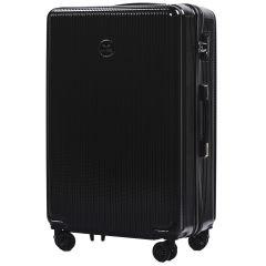 Cestovní kufr WINGS ABS POLIPROPYLEN BLACK velký L