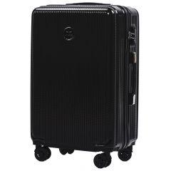 Cestovní kufr WINGS ABS POLIPROPYLEN BLACK střední M