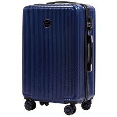 Cestovní kufr WINGS ABS POLIPROPYLEN DARK BLUE střední M