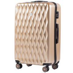 Cestovní kufr WINGS ABS POLIPROPYLEN CHAMPAGNE velký L