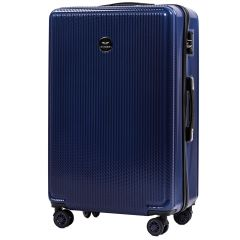 Cestovní kufr WINGS ABS POLIPROPYLEN DARK BLUE velký L