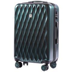 Cestovní kufr WINGS ABS POLIPROPYLEN DARK GREEN střední M