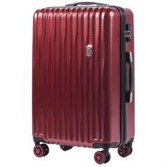 Cestovní kufr WINGS ABS POLIPROPYLEN VINE RED střední M