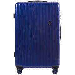 Cestovní kufr WINGS ABS POLIPROPYLEN DARK BLUE velký L E-batoh
