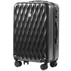 Cestovní kufr WINGS ABS POLIPROPYLEN DARK GREY střední M