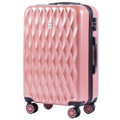 Cestovní kufr WINGS ABS POLIPROPYLEN PINK střední M