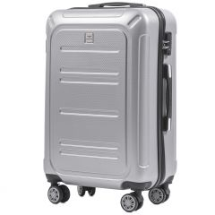 Cestovní kufr WINGS ABS POLIPROPYLEN SILVER střední M