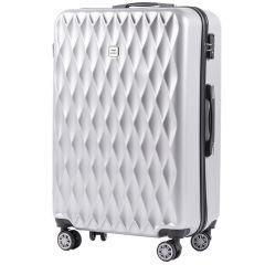 Cestovní kufr WINGS ABS POLIPROPYLEN SILVER velký L